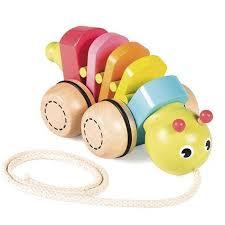 Arrastre de madera Gusanito baby - <b>Goula</b> | Brinquedos de madeira ...