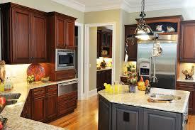 detail kitchens cherry cabinets granite