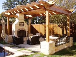 outdoor living spaces gallery  outdoor living room ideas amazing patio with black chairs plus natural stone fireplace wooden with simple