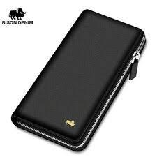 <b>Bison Denim Leather</b> Brown Wallets for Men for sale   eBay