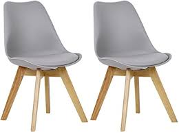 WOLTU Tulip Chairs Kitchen <b>Dining Chairs</b> Set of <b>2 pcs</b> Counter ...