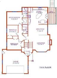 Modified Bi Level    Car Garage by E Designs too big    House plans  middot  Bi Level   With Garage by E Designs don    t like kitchen