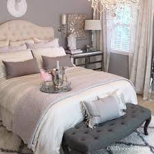 feminine bedroom furniture bed: oh the wonderful little details in this neutral chic romantic bedroom must get