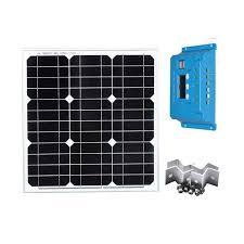 Waterproof Solar Kit <b>Solar Panels 12V 40W</b> PWM Solar Charge ...