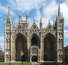 comparision of gothic cathedral architecture of england and europe english west front of peterborough cathedral