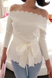 Sweet <b>Sexy Boat Neck Three</b> Quarter White Spandex Shirt(US$6.99 ...