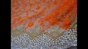 Latest Heavy <b>Net</b> Embroidery Stone Work Saree <b>Pearl</b> Diamond ...