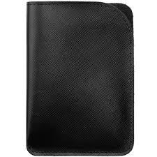 <b>Чехол для паспорта Linen</b>, черный (артикул 11516.30) - Проект 111