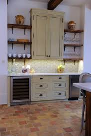 Terra Cotta Tile In Kitchen Kitchen Countertops Are Bianco Carrara Honed Marble Antique