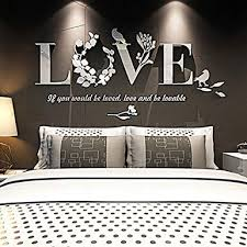 Wall Stickers,Diadia Modern Fashional <b>3D Mirror</b> Leaf <b>Love</b> Vinyl ...