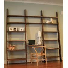 furniture rustic natural wooden ladder awesome oak corner laptop desk