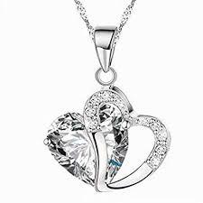 SUNXIN New Fashion Amethyst White Heart <b>Crystal Pendant</b> ...