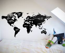 world map chalkboard – your decal shop  nz designer wall art