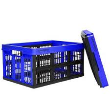 Clever Crates 47.5 qt. <b>Collapsible Storage Box</b> in Royal Blue ...