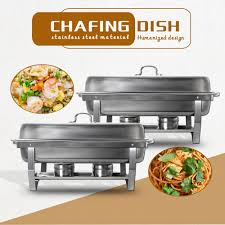 <b>GZZT</b> 9L/9Quart Chafing Dish Buffet Stoves Caterer <b>Stainless</b> Steel ...