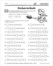 Distributive Property Of Multiplication Worksheet 4th Grade ...Distributive Property Of Multiplication Worksheet 4th Grade