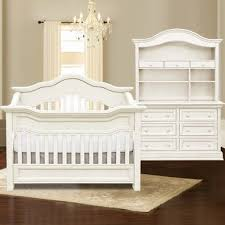 baby appleseed millbury 3 piece nursery set convertible crib double dresser and hutch in baby nursery furniture white