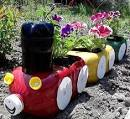 Сад из пластиковых бутылок фото