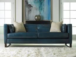 blue sofas living room: modern blue leather sofa and gorgeous art work middot living room