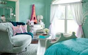 captivating teenage girl bedroom ideas with light blue covered bed linen also soft blue sofa and beauteous pink blue