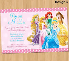birthday invitation card disney princesses birthday invitations disney princess birthday invitations printable
