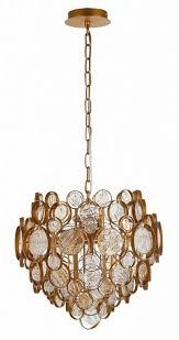<b>Подвесной светильник CRYSTAL</b> LUX DESEO SP6 D460 GOLD ...