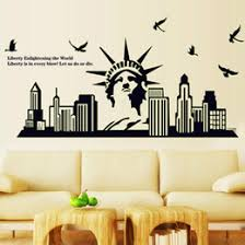 liberty bedroom wall mural: qt  diy wall sticker the statue of liberty all match style luminous wallpapers mural waterproof wall stickers home decor