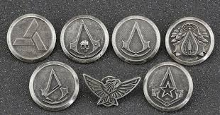 Assassins Creed Brooch Pin Abstergo Knights Templar Master ...
