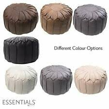 <b>Brown</b> Leather Pouffes for sale | eBay