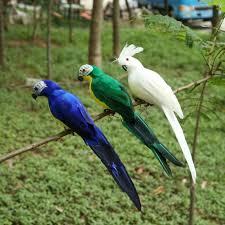 <b>Creative</b> Foam Feather <b>Artificial Parrots Imitation</b> Bird Model Garden ...