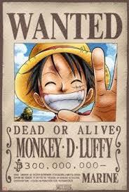Poster <b>One Piece Wanted Luffy</b> (52X35) | Anime, Anime <b>one piece</b> ...