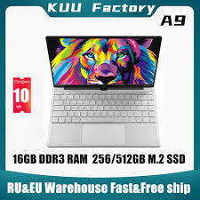 <b>KUU A9 14.1 inch Laptop</b> intel 3867U 16GB DDR3 RAM 512GB M.2 ...