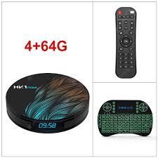 HK1MAX Android 9.0 Smart TV Box Quad Core 2.4G/5G Wifi BT 4.0 ...