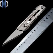 <b>Titanium Alloy Utility Knife</b> Seven speed One handed Tactics Self ...