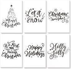 48-Pack <b>Merry</b> Christmas Greeting Cards Bulk Box Set - Winter ...