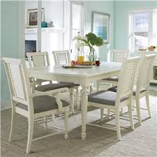 seven piece dining set: broyhill furniture seabrooke  piece dining table and chair set