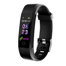 <b>Smart</b> Wristband <b>fitness tracker</b> Watch Health Heart rate band Blood ...