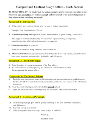 compare contrast essay format structure of compare and contrast structure of compare and contrast essay gxart orgessay good compare and contrast essay outline block