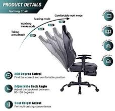 Blue <b>Whale</b> Gaming <b>Chair PC Computer Chair</b> with Footrest ...