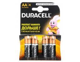 Батарейки <b>Duracell LR6</b>-<b>4BL BASIC AA</b> 4 штуки - notik.ru - imall.com