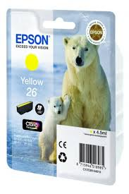 <b>Картридж Epson C13T26144010</b> (№26), оригинальный, yellow ...