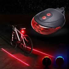 <b>Bicycle</b> Lighting <b>Bike Cycling</b> Waterproof 5 LED 2 <b>Laser 3</b> Modes ...