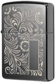 49162 <b>Зажигалка Zippo Luxury</b> Venetian, Black Ice
