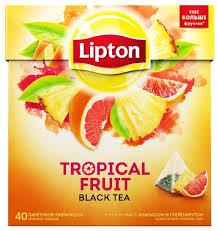 <b>Чай черный Lipton Tropical</b> Fruit в пирамидках — купить по ...