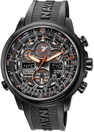 Men's Eco-Drive Navihawk A-T Black Polyurethane Strap <b>Watch</b> ...