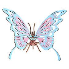 Children Educational Toy DIY Handwork Butterfly <b>Jigsaw 3D</b> ...