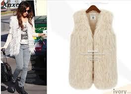 2019 <b>2018 New</b> Fsahion Mongolia Sheep Fur Vest Women Faux Fur ...