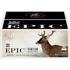 EPIC <b>Venison Sea Salt Pepper</b> Bar 12 Ct Box of 1.5 oz Bars ...