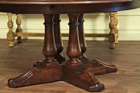 round dining tables for sale pedestal table with  solid wood turned legs