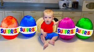 Five Kids <b>Pretend Play</b> Fun with Colored Surprise <b>Children's</b> Videos ...